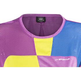 La Sportiva Push T-shirt Dame purple/apple green